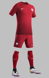 Pologne Euro 2016 maillot football exterieur officiel