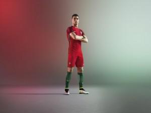 Portugal Euro 2016 maillot domicile Ronaldo Nike