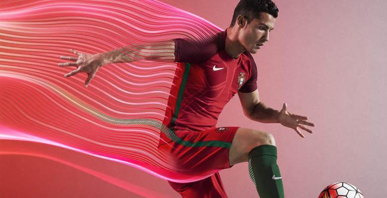 Les nouveaux maillots du Portugal Euro 2016