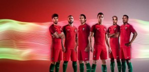 Portugal Euro 2016 maillot domicile officiel