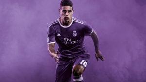 Real Madrid 2017 maillot de foot exterieur 16-17 James Rodriguez