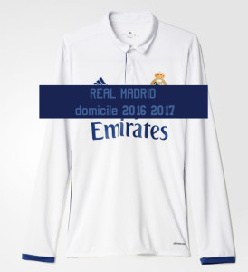 Real Madrid 2017 maillot domicile manches longues 2016 2017