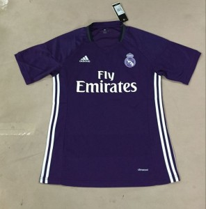 Real Madrid 2017 maillot exterieur foot violet 2016 2017