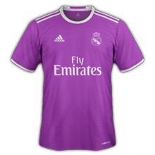 Real Madrid 2017 maillot exterieur violet 2016 2017