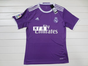 Real Madrid 2017 maillot exterieur violet Adidas 16-17