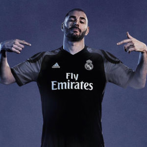 Real Madrid 2017 troisieme maillot third foot 2016 2017 Benzema