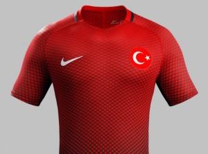 Turquie Euro 2016 maillot domicile officiel