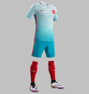 Turquie Euro 2016 maillot exterieur Nike officiel