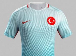 Turquie Euro 2016 maillot exterieur officiel