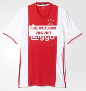 Ajax 2017 maillot football domicile Aaex Amsterdam 16 17