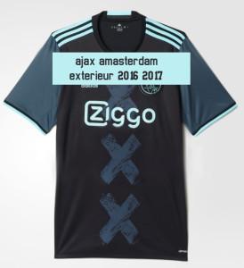 Ajax 2017 maillot football exterieur Ajax Amsterdam 16 17