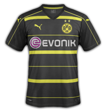 Borussia Dortmund 2017 maillot foot exterieur 16-17