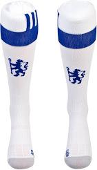 Chelsea 2017 chaussettes de foot domicile blanches