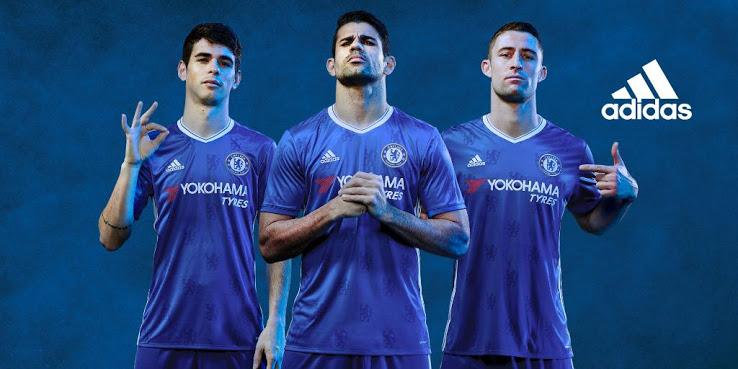 Chelsea 2017 les nouveaux maillots de football 16-17