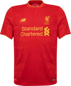 Liverpool 2017 maillot domicile New Balance 2016 2017 officiel