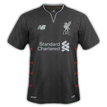 Liverpool 2017 maillot exterieur foot 16-17