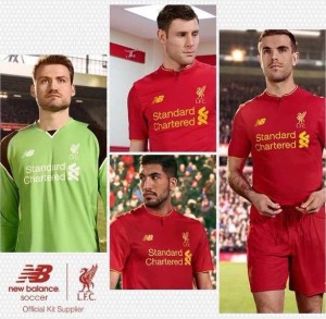 Liverpool 2017 maillot foot domicile officiel New Balance