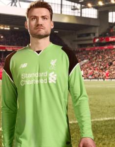 Liverpool 2017 maillot gardien vert 2016 2017