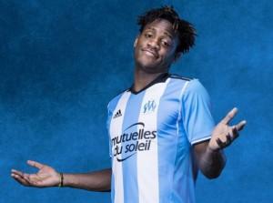 Marseille 2017 maillot de foot third bleu et blanc