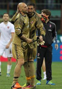 Milan AC 2017 maillot de gardien or Adidas