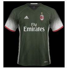 Milan AC 2017 maillot third 2016 2017