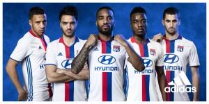 OL 2017 maillot de foot domicile Adidas Lyon 2016 2017
