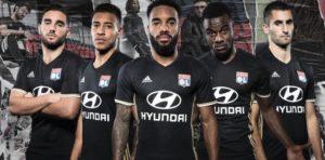 OL Lyon 2017 maillot des coupes noir