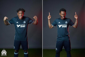 Olympique de Marseille 2017 maillot foot exterieur Nkoulou Batsuayi