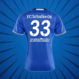 Schalke 2017 dos maillot football domicile flocage