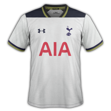 Tottenham 2017 maillot football 16-17 domicile