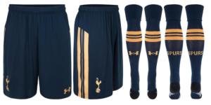 Tottenham 2017 short chaussettes exterieur 2016 2017
