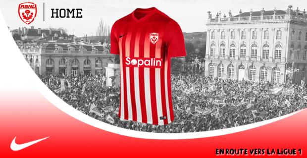ASNL les nouveaux maillots Nancy 2016 2017 en Ligue 1