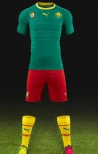 Cameroun 2016 2017 maillot de football domicile