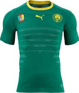 Cameroun 2016 2017 maillot foot domicile Puma