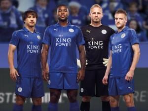 Leicester 2017 maillot domicile Puma 16-17 officiel