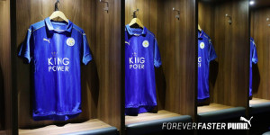 Leicester City 2017 le maillot de football domcicile 2016-2017