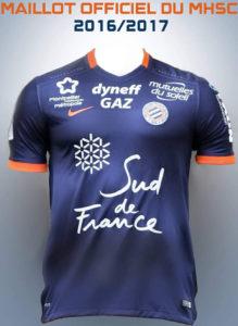 MHSC 2017 maillot domicile Montpellier 2016 2017