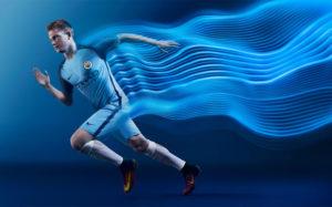 Manchester City 2017 maillot domicile De Bruyne