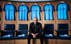 Manchester City 2017 maillot domicile officiel Pep Guardiola