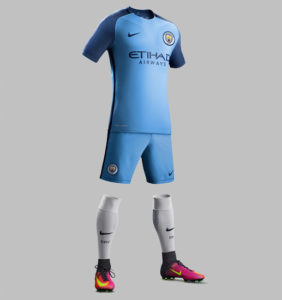 Manchester City 2017 maillot football domicile 16-17