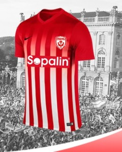 Nancy 2017 maillot domicile foot 16-17