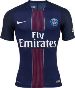PSG 2017 maillot Paris domicile 16-17 bleu