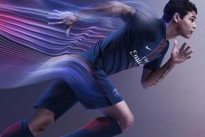 PSG 2017 maillot domicile T.Silva 2016 2017 Nike