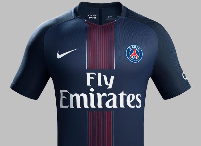 Psg 2017 les maillots de foot du paris saint germain for Maillot psg exterieur 2016