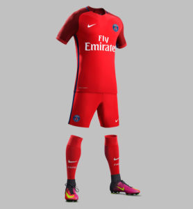 PSG 2017 maillot foot exterieur Nike 2016 2017