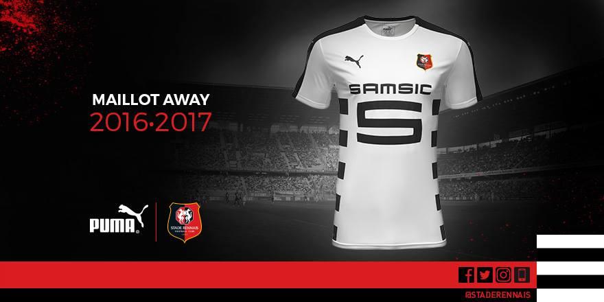 Rennes 2017 les maillot du stade rennais 2016 2017 for Maillot rennes exterieur