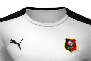 zoom maillot Stade Rennais FC 2017 exterieur blanc Puma