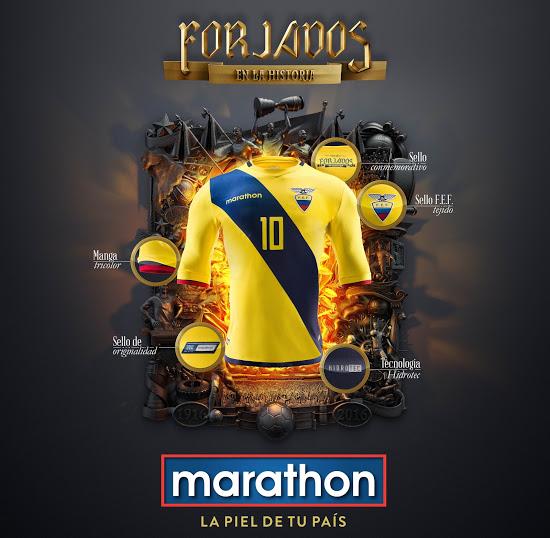 Equateur 2016 les maillots de foot Copa America Centenario
