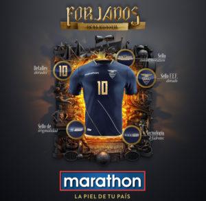 Equateur 2016 maillot exterieur Copa America Marathon