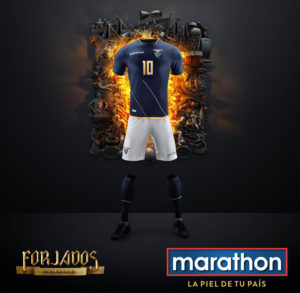 Equateur 2016 maillot exterieur foot Copa America Centenario